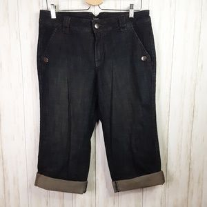 Jag Stretch Denim Capri Dark Wash Jeans 12